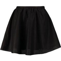 ONLY ELENA Aline skirt ($14) ❤ liked on Polyvore featuring skirts, mini skirts, bottoms, saias, faldas, black, tall skirts, zipper skirt, petticoat skirt and short skirts