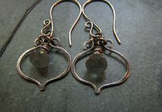 Sterling Silver handmade wire earrings
