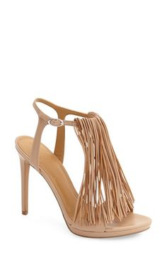 dae62a61cd36 KENDALL + KYLIE  Aries  Fringe T-Strap Sandal (Women) Sneakers Outfit