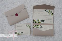 Wedding #invitation #Italian #vineyard- Sweet T Creates
