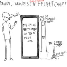 Dallon J Weekes: A (slightly exaggerated) height chart? Frank Iero should stand next to Pete Emo Bands, Music Bands, Music Stuff, My Music, The Brobecks, Dallon Weekes, Music Memes, Frank Iero, Band Memes