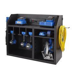 Tool Wall Storage, Power Tool Storage, Tool Storage Cabinets, Diy Garage Storage, Power Tools, Storage Rack, Storage Shed Organization, Workshop Storage, Workshop Organization