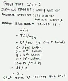 How Thalaiva proved that 2/10=2!! --- --- Sent by WhatsApp