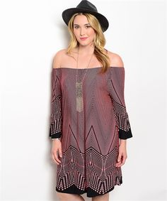 Crazy Geo Dress- This fun and crazy geo pattern dress is perfect for any casual occasion. It features a loose fit with bell sleeves.