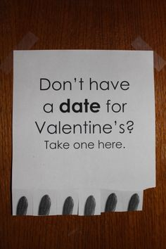 #dorm #tearable #date Valentine's Day date decoration Could also do tear off strips of cheesy pick up lines!