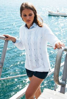 """Like this classic """"nautical"""" look. The shorts are a bit too short for me personally but cute on the model."""