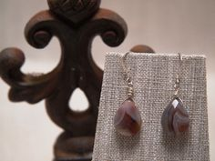 Beautiful Botswanna Agate Drop Earrings by TheJewelster on Etsy, $19.50
