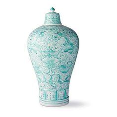 Aqua Ming Large Lidded Vase ($149) ❤ liked on Polyvore featuring home, home decor, vases, aqua home decor, aqua home accessories, blue green vase, handmade home decor and ceramic jar