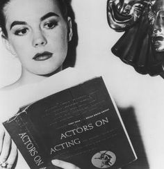 Natalie Wood studying her craft