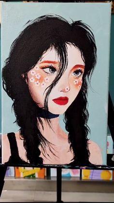 Art Painting Tools, Canvas Painting Tutorials, Art Painting Gallery, Acrylic Painting Canvas, Simple Canvas Paintings, Small Canvas Art, Mini Canvas Art, Kunstjournal Inspiration, Arte Sketchbook