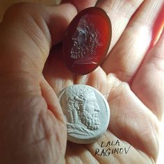 Intaglio in progress almost done. Lala Ragimov after Hyllos at the Hermitage. Head of Zeus.  gem engraving precious chalcedony lapidary ancientgreek jewelry jewellery engraving seal sigillo cameo  глиптика antiquejewelry ancient gemengraving zeus zeusolympios mythology miniature intagliocarving luxury gift  carnelian hermitage antiqueгемма