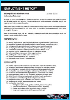 Automotive Resume Resume Templates For Highschool Students Check More At Https .