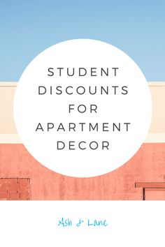 Student Discounts for Apartment Decor