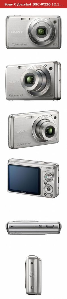 Sony Cybershot DSC-W220 12.1MP Digital Camera with 4x Optical Zoom with Super Steady Shot Image Stabilization (Silver). The Sony Cyber-shot DSC-W220 combines point-and-shoot ease-of-use with advanced features in a sophisticated, compact body. Smile Shutter technology allows you to capture a smile the moment it happens, and the Carl Zeiss 4x optical zoom lens, Optical SteadyShot image stabilization, and 12.1 megapixel resolution deliver crisp, clear images.