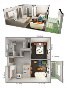 Superb Amazing Interior Design 10 Ideas For One Bedroom Apartment Floor Plans