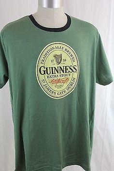 MENS-XL-GUINNESS-BEER-AUTHENTIC-T-SHIRT-IRELAND-STOUT-BEER-EXTRA-LARGE