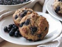 Blueberry Muffins with KAMUT flour. Made these for breakfast today (with lemon peel instead of cinammon.) Heavier that regular flour but protein rich and very good!