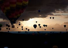 Fly in a hot air balloon.