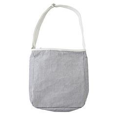 stripe canvas shoulder bag / muji