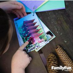 Hunt for Fun: Amy Malaise of Petaluma, California, helps her kids explore their vacation destinations with a scavenger hunt prepared in advance. She glues pictures of the items they're looking for onto index cards (one apiece), then laminates the cards, punches a hole in one corner, and hooks them on a ring for portability. Items vary with the destination but might include nature finds, landmarks, public art, or eye-catching buildings.