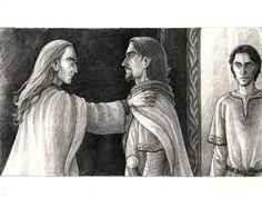 Denethor and his Sons ~ Anke-Katrin Eissman.