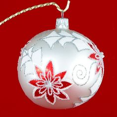 Morning Hand Painted Glass Christmas Ornament by HolidayGiftShops