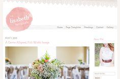The Lisabeth WordPress Theme by angiemakeswebsites on Creative Market