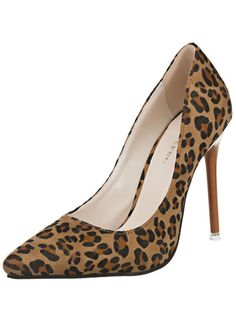 Fashion Personality Stiletto Heels Pointed Leopard Shoes