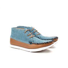 Louis Moc Toe Boot // Tobacco + Denim Blue (US: 7)