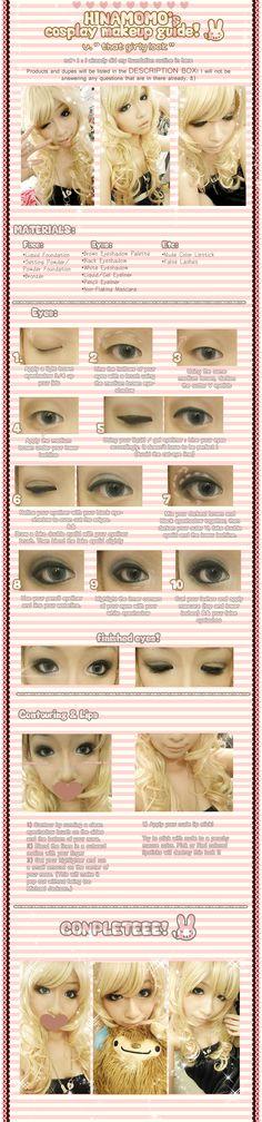 COS MKUP : Girly-heavy eyes by hinamomo.deviantart.com on @deviantART