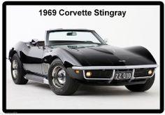 1969 Corvette Stingray Refrigerator Magnet