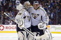 Anders Lindbäck and Pekka Rinne - goalies for the Nashville Predators ♥