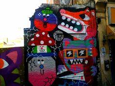 Street art in Brick Lane London.  A selection of my favourite street art in Europe: http://www.europealacarte.co.uk/blog/2013/12/06/street-art-europe/