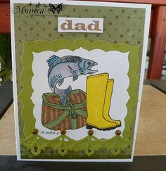 Hand made Father's Day card - Fishing theme