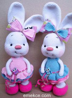 Amigurumi Oyuncak Tavşan Yapımı | Emekce.com #amigurumi #örgüoyuncak #çocukoyuncağı #organik #organikoyuncak #tığişi