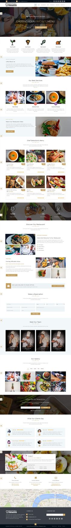 Restora is beautiful and unique design Multipurpose Bootstrap theme for #Restaurant Or #Cafe #website. Download Now!