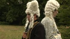 How To Fight A Duel - The etiquette of dueling with men in outrageous wigs. Fun clip [4:30 - with a 28 sec ad to get through first]