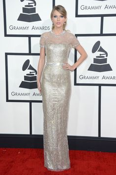 The Grammy Awards 2014 Red Carpet Dresses: Taylor Swift in Gucci