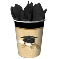 Graduation paper cups to match the rest of you graduation paper goods.