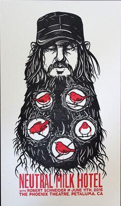 Designed by Monkeys Neutral Milk Hotel Petaluma Poster