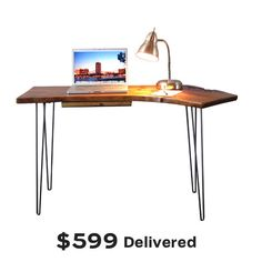 Mid Century Modern Desk by Woodwaves $599