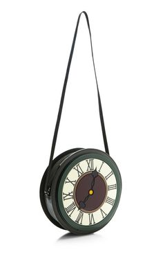 Yaz Bukey Clock Round Bag by Yaz Bukey for Preorder on Moda Operandi