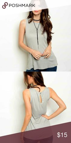 BNWT gray summer tank top BNWT gray summer tank top Made in USA!! 95% rayon 5% spandex Length is 23 inches, bust 36 and width 36 Easy to layer, perfect for any weather!  Price is firm, no offers please. Thank you for looking (: Tops Tank Tops