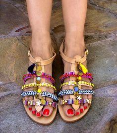 FREE SHIPPING Boho Greek Sandals Bahamas / Leather