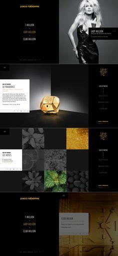 1 Million - Paco Rabanne \\ Beautiful website. http://www.pacorabanne.com/million