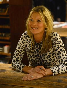 Kate Moss at her book signing in London, 2012