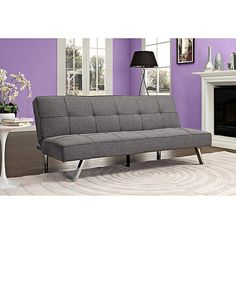 modern gray futon