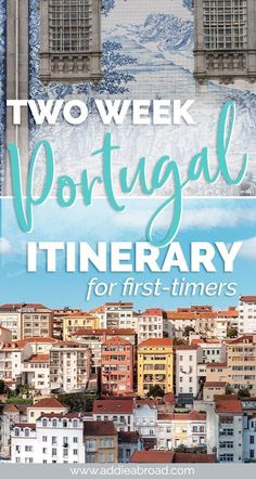 2 Weeks in Portugal // A 2 Week Portugal Itinerary for First-Timers Two weeks is the perfect amount of time to get a taste for everything Portugal has to offer. Visit Porto, Aveiro, Obidos, Lisbon, and Lagos in this 2 week Portugal Itinerary. Portugal Vacation, Portugal Travel Guide, Europe Travel Guide, Backpacking Europe, Europe Destinations, Travel Guides, Portugal Trip, Hotels In Lagos Portugal, Sintra Portugal