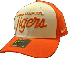 2bc41e75496 Clemson Tigers Nike NCAA Classic 99 Swoosh Flex Fit Hat