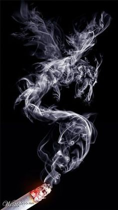I love the way smoke takes its shape in the air... There's something very mystical about it. It's because of this free-flowing effect that these images, cr